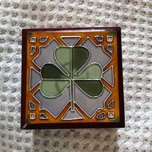 Irish wood box 4x4 beautiful